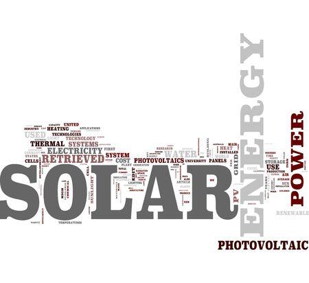 energia solar: Nube de palabras de energ�a solar  Foto de archivo