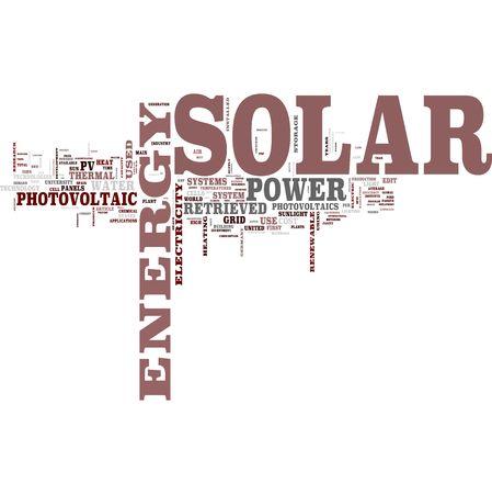 Solar energy word cloud