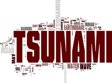 Tsunami word cloud photo