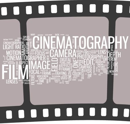Cinema - film word cloud photo