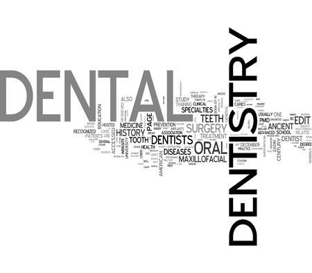 Dentistry related words collage Stock Photo