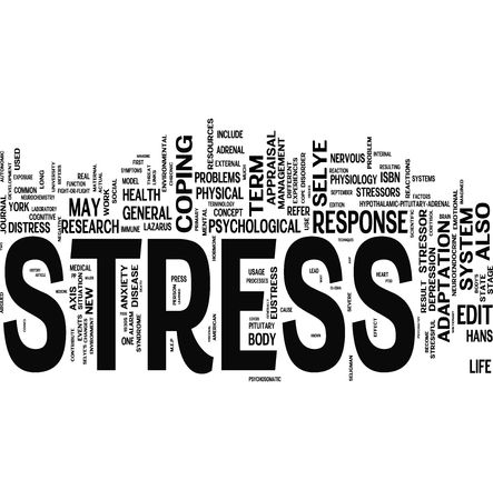 hombre preocupado: Collage de palabras relacionadas con el estr�s