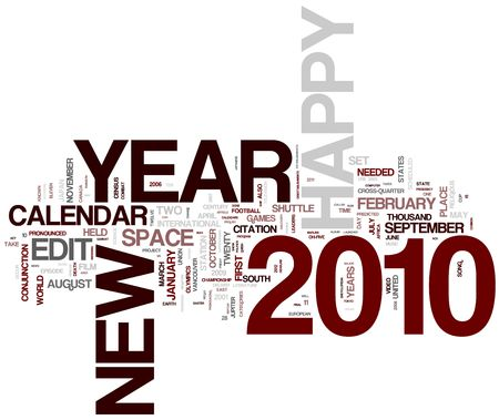 2010 word collage Stock Photo - 5771905