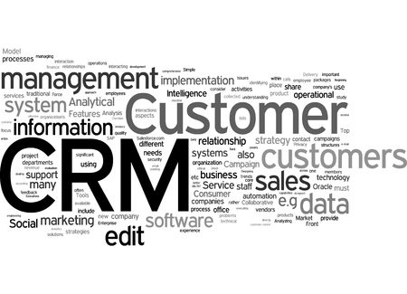 CRM word collage photo