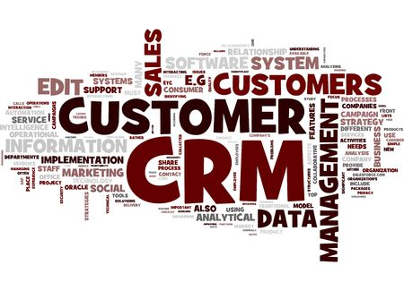tidings: CRM word collage