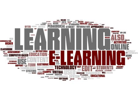online learning: E-learning word collage Stock Photo