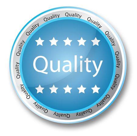 合計: 青い品質] ボタン 写真素材