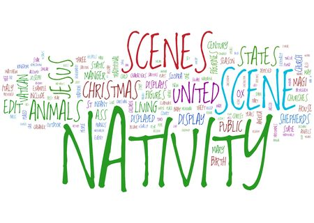 nativity word collage photo