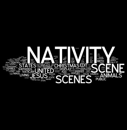 nativity word collage Stock Photo - 6041218
