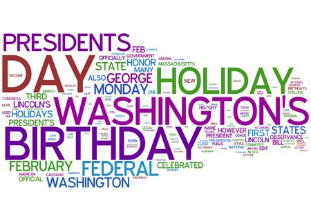 president day word collage photo