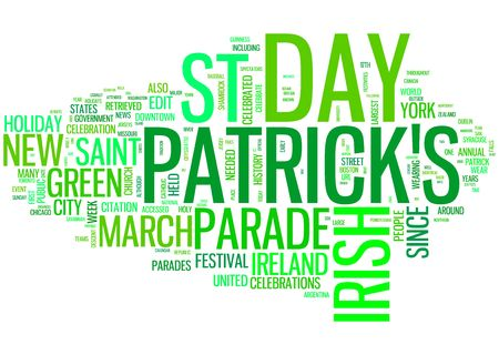 four fourleaf: st patrick day word collage