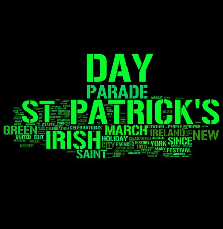 st patrick day word collage photo