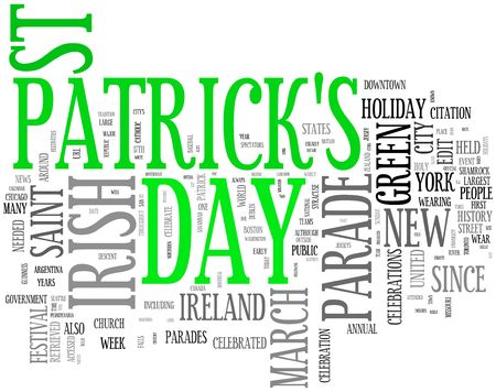 st patrick day: st patrick day word collage