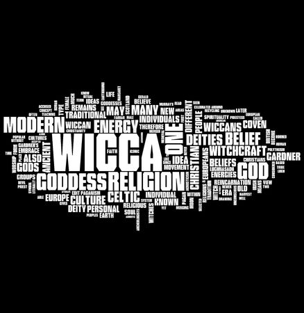 psychic reading: wicca word cloud