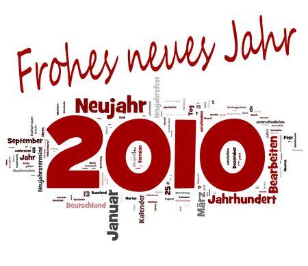 schwarz: 2010 Frohes Neues Jahr