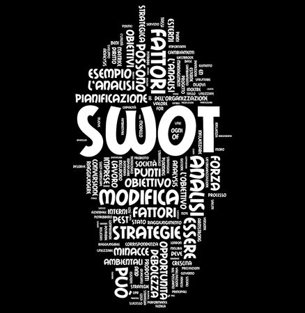 Swot analysis word business photo