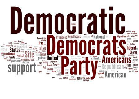 democratic: Democratic party Stock Photo