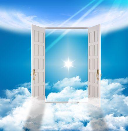 god in heaven: Heavens Gate - Eternity Afterlife Stock Photo