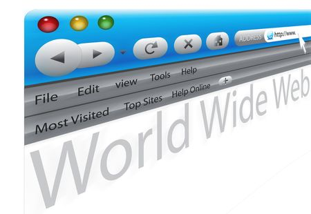 Browser and World Wide Web Stock Photo - 6640935