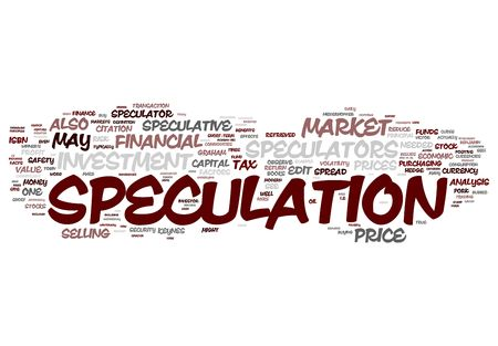 speculation: Speculation and Investment Stock Photo