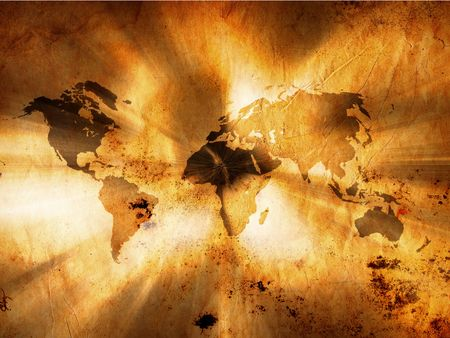 vintage world map: Impact World Map Background