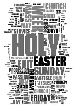 Easter - holy week