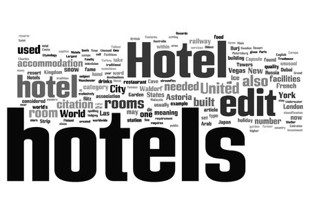 accomodation: hotel word business