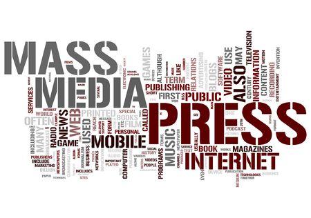 Pers en Massa media concepten Stockfoto