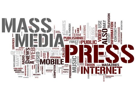 Press and Mass media Concepts Stock Photo - 12352581