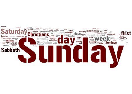 organise: Sunday Stock Photo