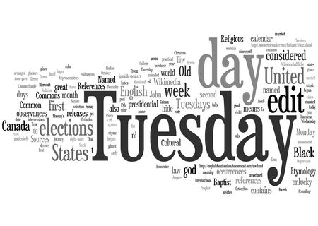 organise: Tuesday