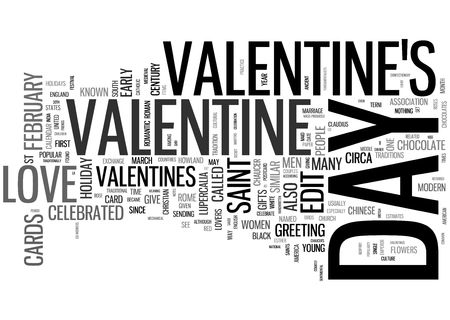 St Valentine word collage on white photo