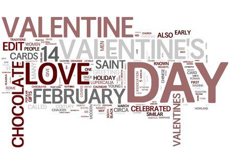 st valentine: Collage de la palabra de San Valentine en blanco