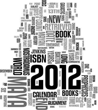 2012 Maya calendar word cloud photo