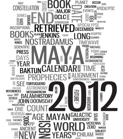 2012 Maya calendar word tags photo