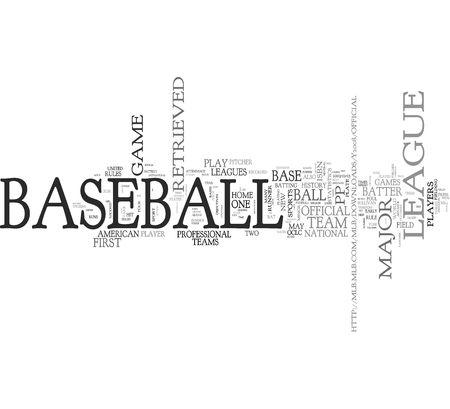 Baseball word concepts Stock Photo