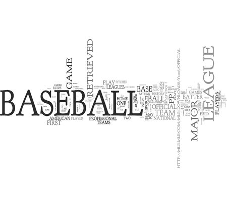 Conceptos de b�isbol de palabras photo
