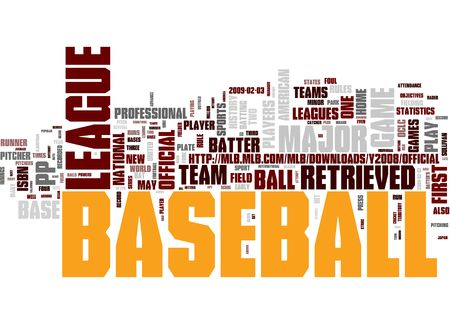 baseball stadium: Baseball word concepts Stock Photo