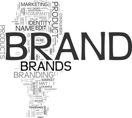 Concepts de marque Banque d'images