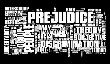 bias: Prejudice, Racism, Discrimination Stock Photo