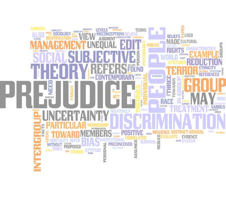 prejudice: Prejudice, Racism, Discrimination Stock Photo