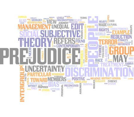 Prejudice, Racism, Discrimination Stock Photo