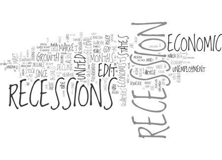 stock market crash: Recession