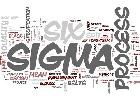 Six Sigma Process Stock Photo - 12178073