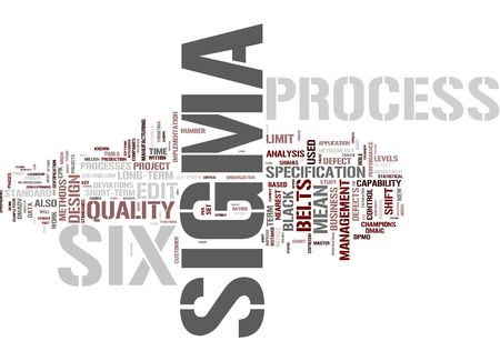 Six Sigma Process Stock Photo - 12178074