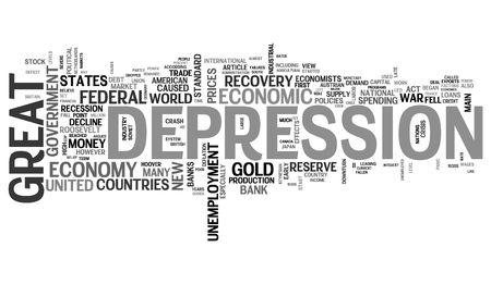 Great Depression - economic crisis photo