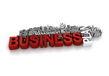 Business Plan Management - 3D on white