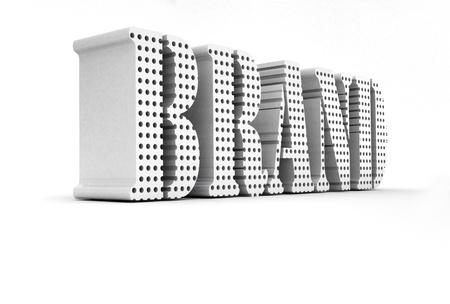 3d White Brand Word Concept  photo