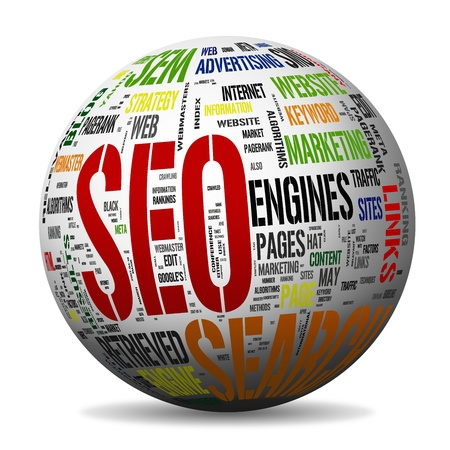 optimized: Search engine optimization - Seo Concepts (included Clip Path) Stock Photo