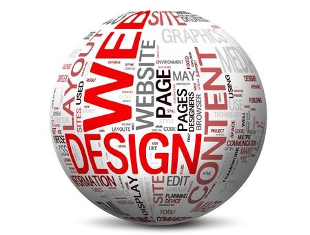웹: 웹 디자인의 개념 스톡 사진
